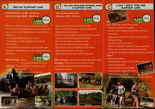 Doi Inthanon Elephant Park Chiang Mai Thailand Brochure 2
