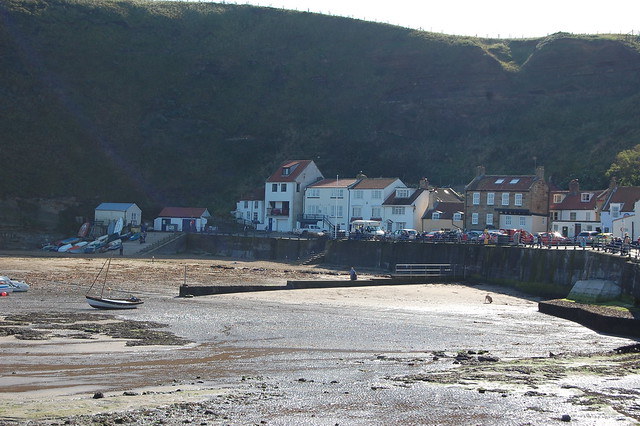 Staithes - scene shown as a photograph