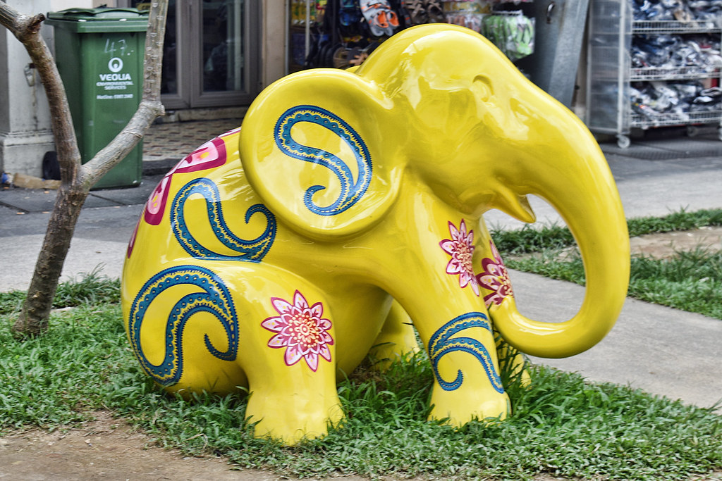 N 2017 N >> Fibreglass Elephants | Hand-painted fibreglass elephants dis… | Flickr