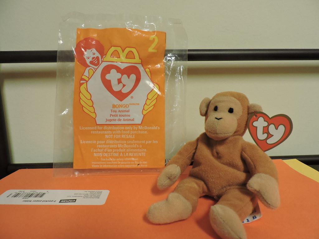 ... 1998 Retro McDonald s Happy Meal - Ty Beanie Babies (TOY 2 - Bongo the  Monkey 7c1594e6a87