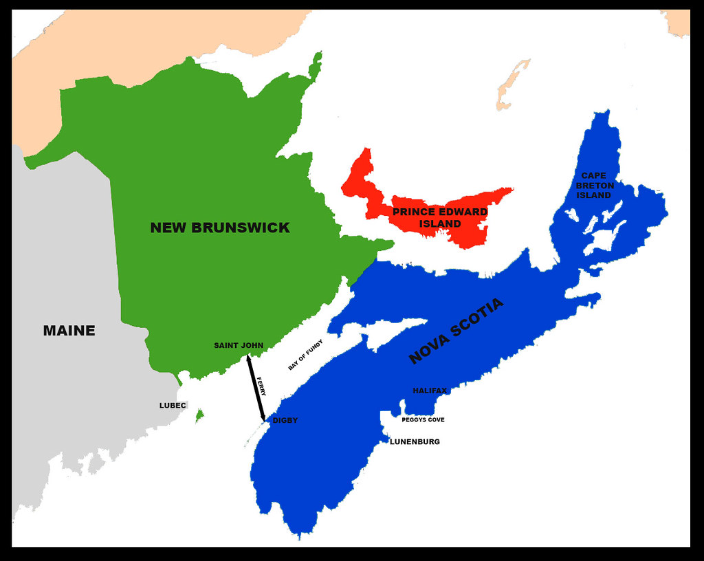 Map Of The Maritimes Map of Maine (US) and the Canadian Maritimes 2017 | The map … | Flickr Map Of The Maritimes