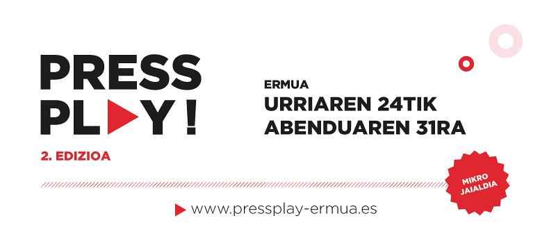 Cartel anunciador de la segunda edición de Press Play Ermua