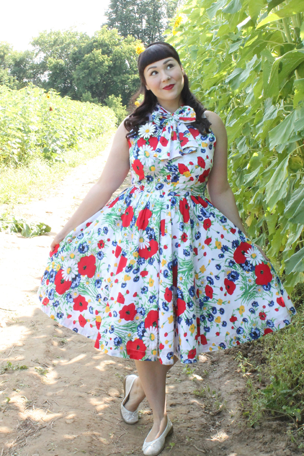 wildflower floral print dress