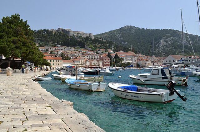 Tranquil Hvar Town, Croatia