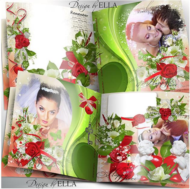 Шаблон для свадебной фотокниги