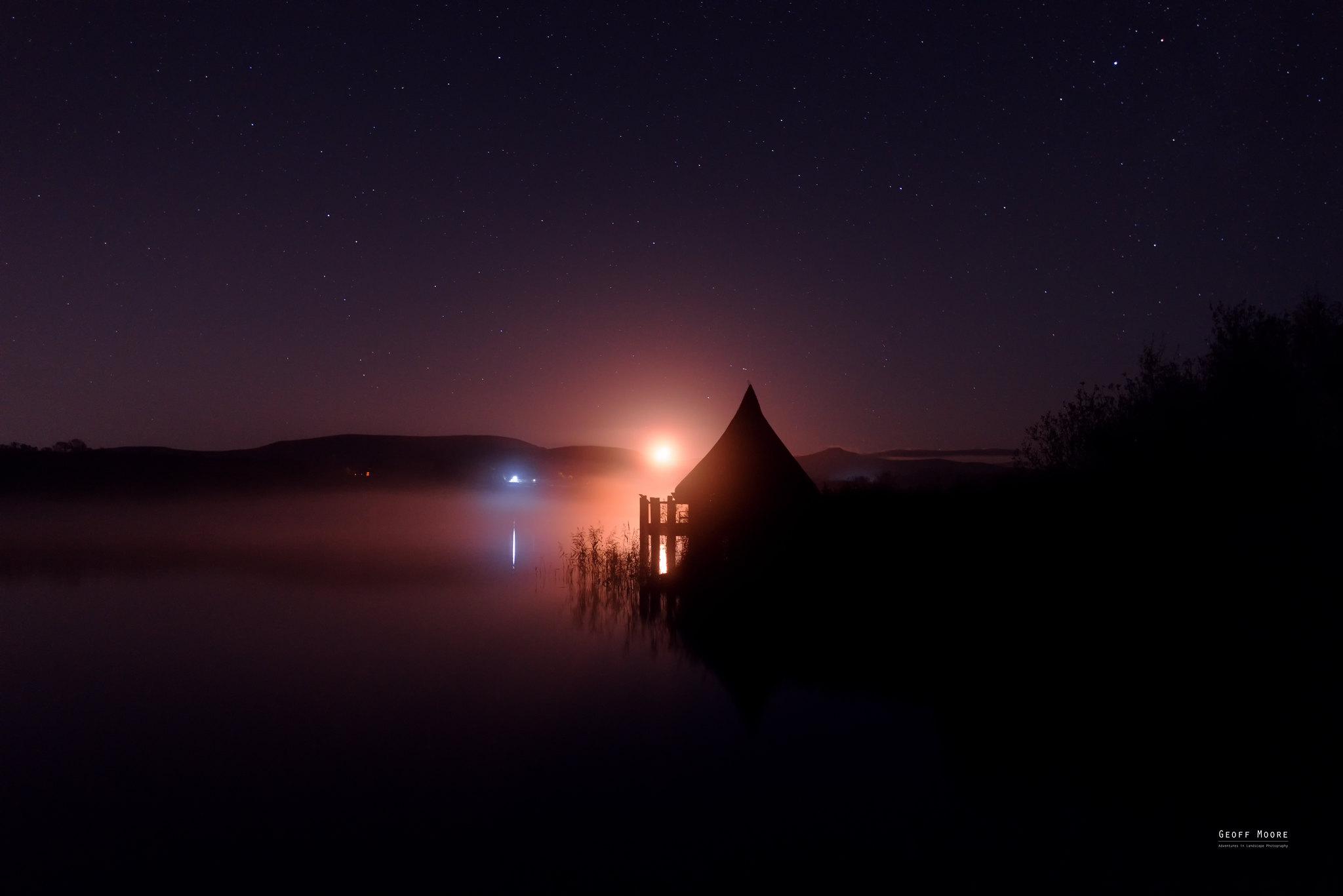 Crannog Moonset
