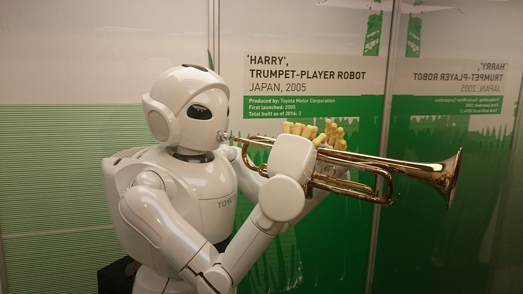 Harry The Trumpet Playing Robot By Toyota Msimanchester