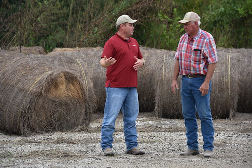 Phillip Stewart, NRCS Texas, with Liberty County rancher Jack Carraway