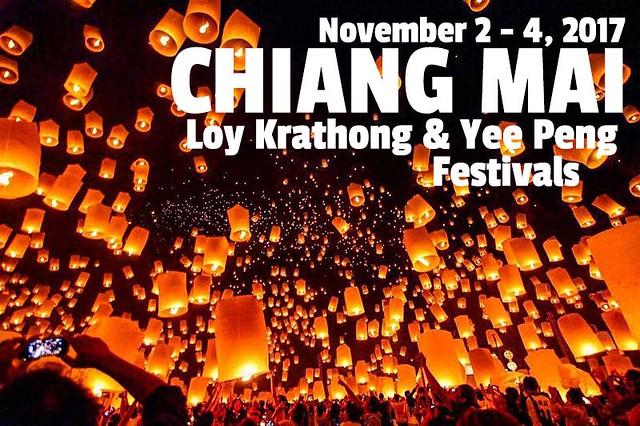 Chiang Mai Loy Krathong Yee Peng Festivals 2017