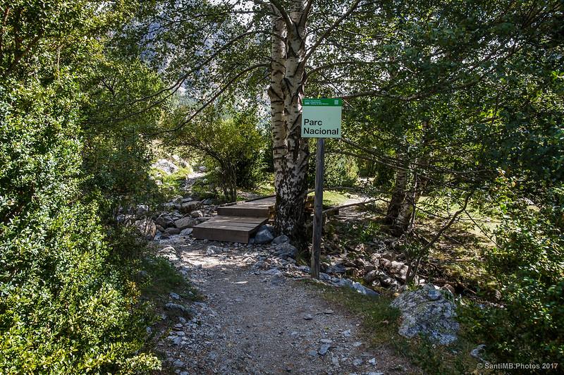 Entrando en el Parc Nacional d'Aigüestortes i Estany de Sant Maurici