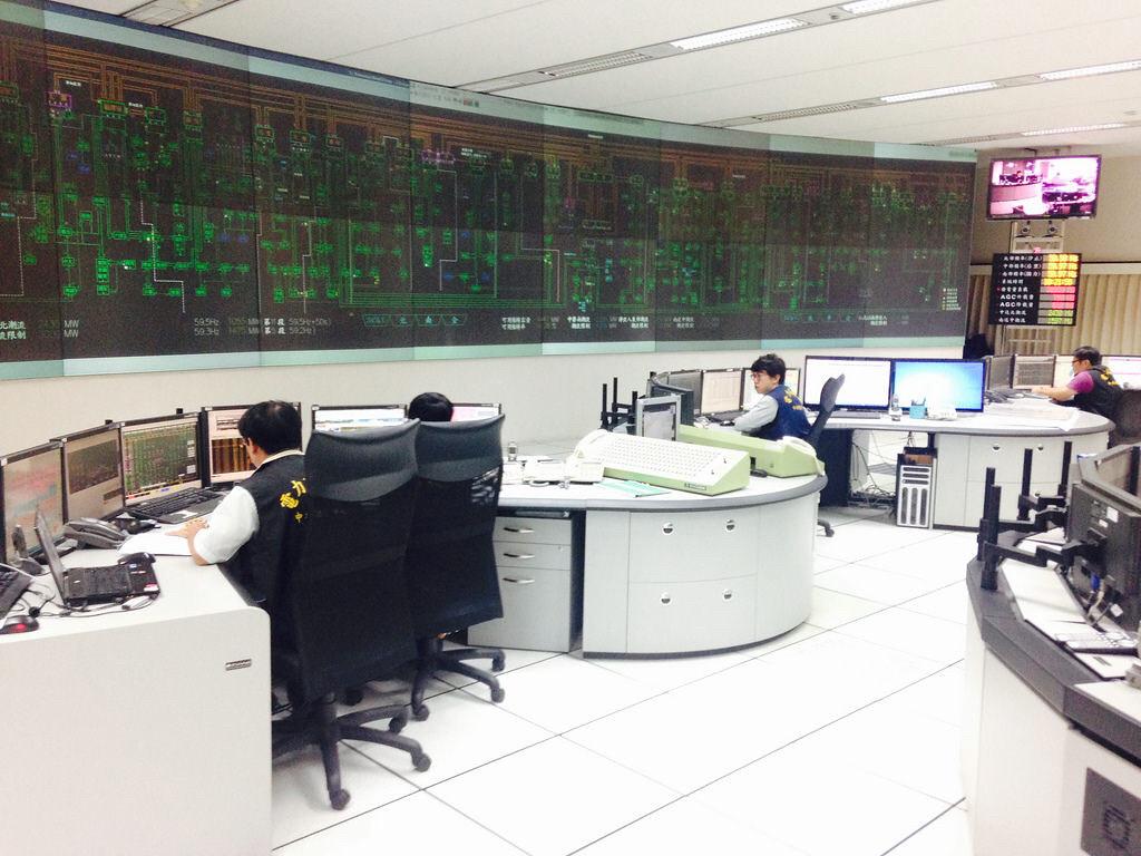 圖為台電中央電力調度中心。圖片來源:台電提供。