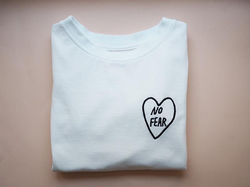 No fear Taika Mannila x Sugar Helsinki -t-paita