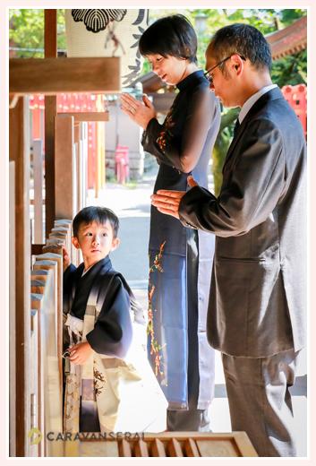 七五三参り 写真前撮り出張撮影 服装 着物 男の子 深川神社 愛知県瀬戸市 時間 ロケーション撮影 人気 おすすめ 服装