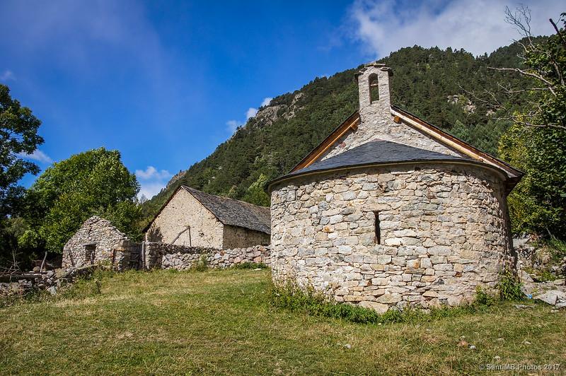 Borda y ermita de Sant Nicolau en Aigüestortes