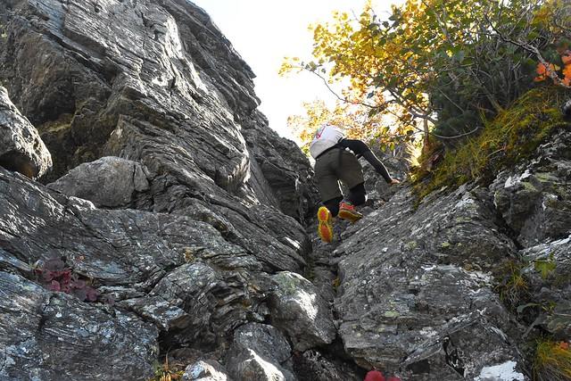 アサヨ峰の岩場
