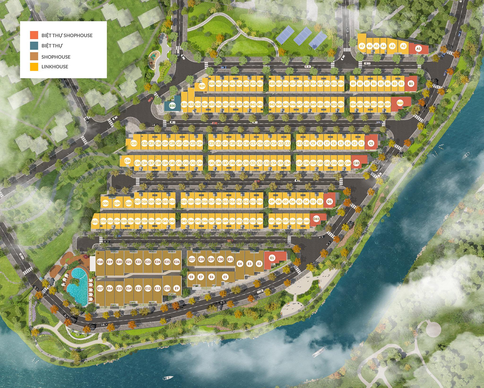 Bảng giá Biệt thự cao cấp Villa Park và Park Riverside Premium 3