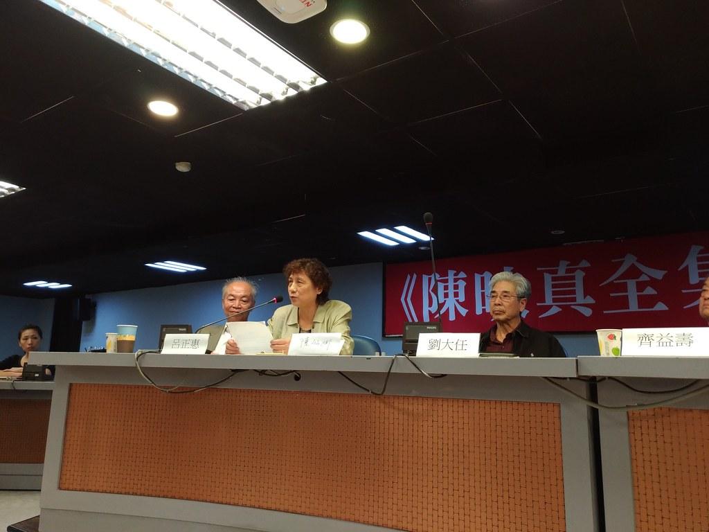 陳麗娜表示未來將持續推動建立「陳映真紀念館」。(攝影:曾福全)