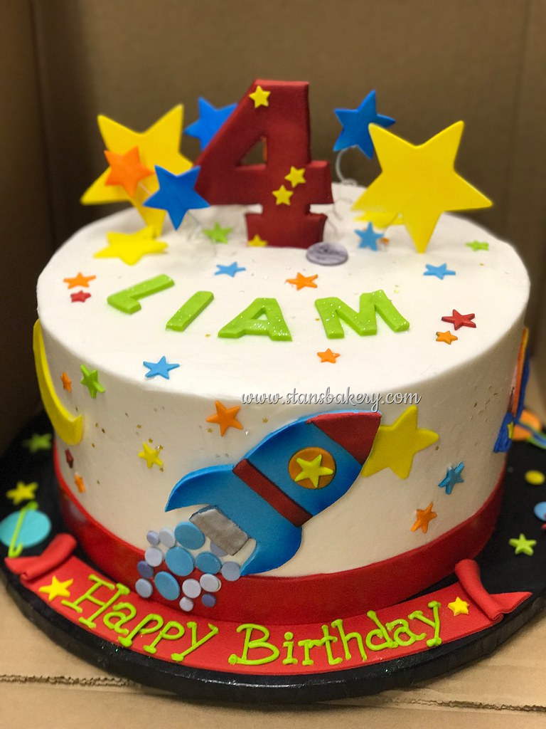 Outer Space Rocket Ship Birthday Cake Stans Northfield Bakery Flickr