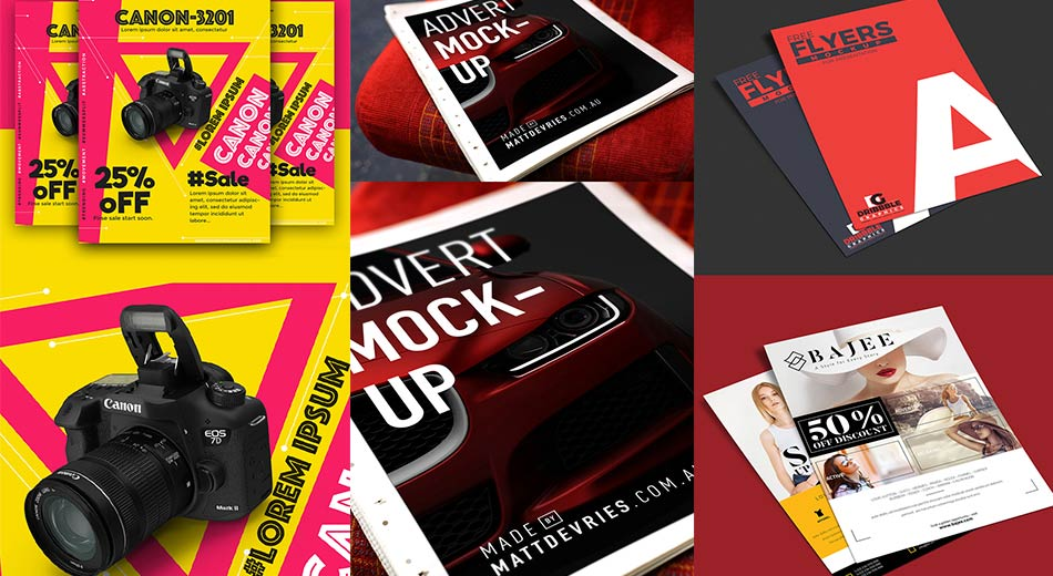 Colección de útiles mockups PSD gratuitos para diseñadores profesionales
