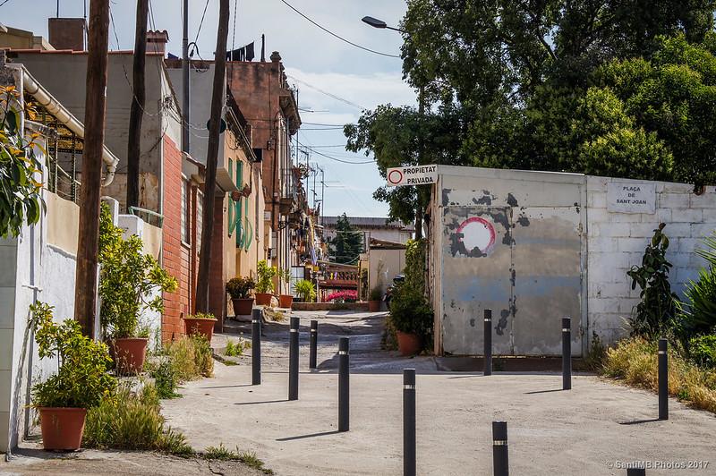 Final (o principio) de la calle Aiguafreda del barrio de Horta
