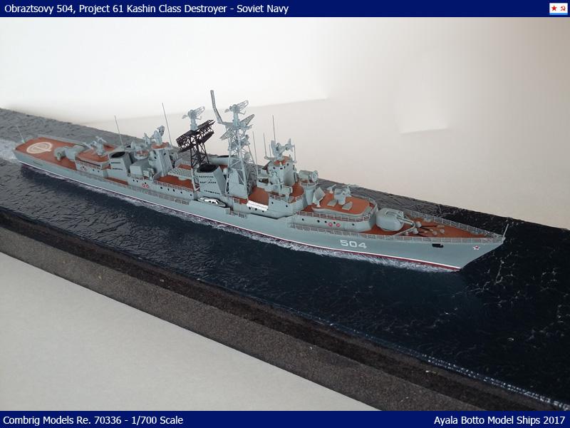 Destroyer Obraztsovy Projet 61 Classe Kashin Combrig 1/700 Marine Soviétique 37526043096_df57034ef1_o