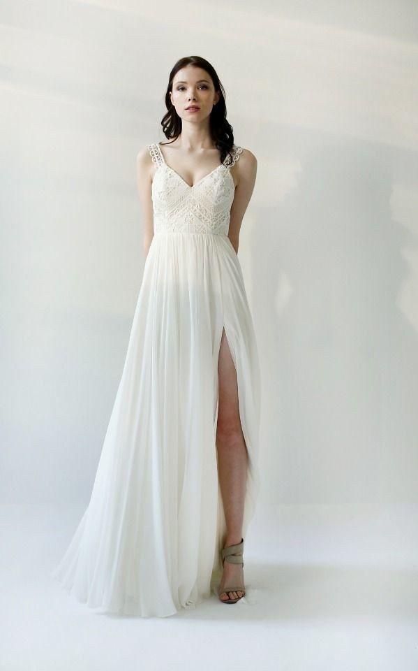 Wedding Dresses Inspiration : Guipure Lace wedding gown by… | Flickr
