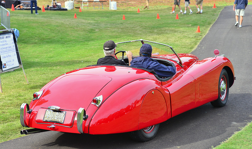 1952 Jaguar Xk 120 At The Euro Auto Fest In Greenville Sc Flickr