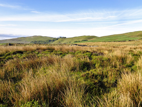 Looking back towards Craig y Garn after descending