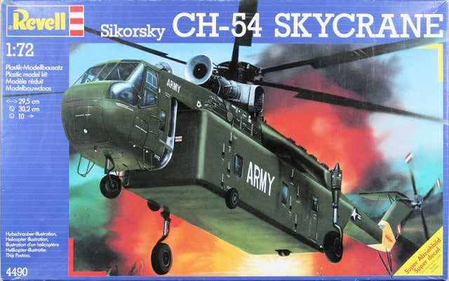 Fil rouge 2019 : Sikorsky CH-54 Skycrane (Revell 1/72) 37126999433_5dbf8ec3a3_z