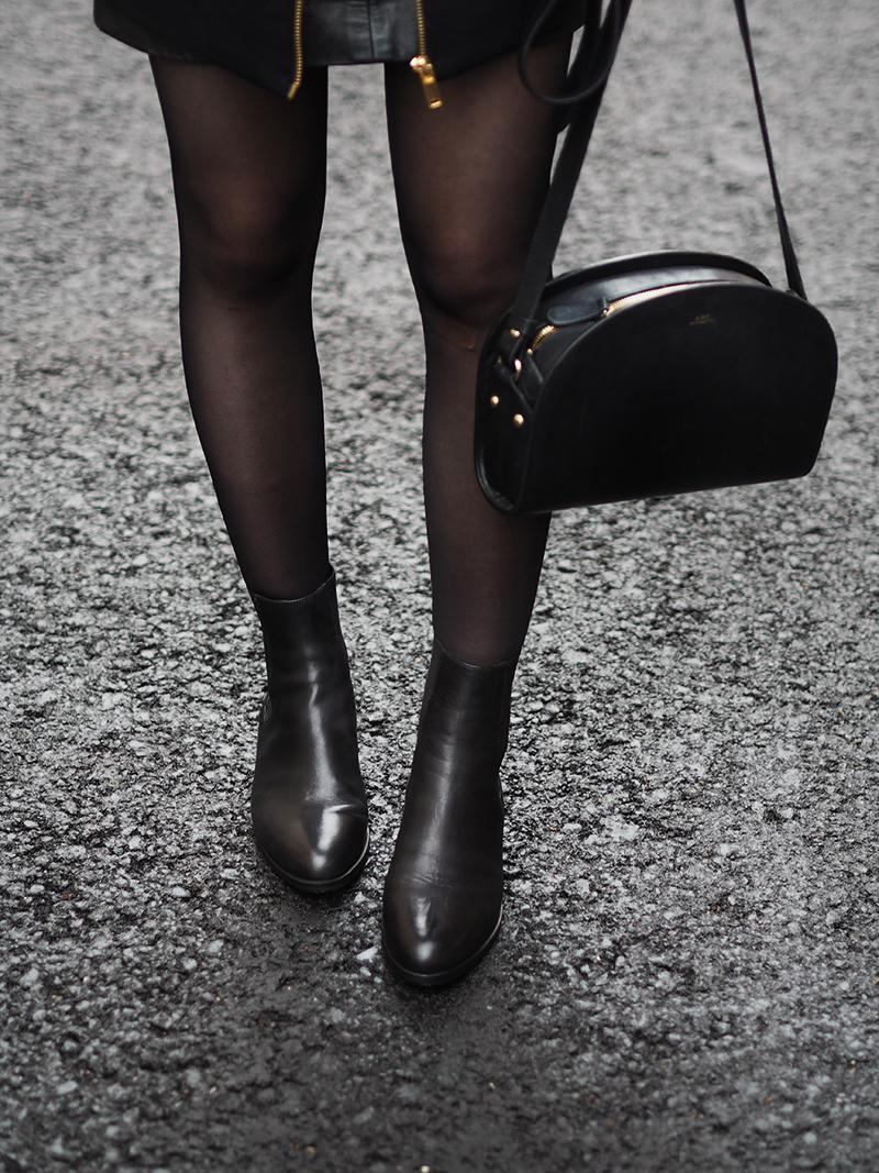 Flattered Lucile Black Nappa blog