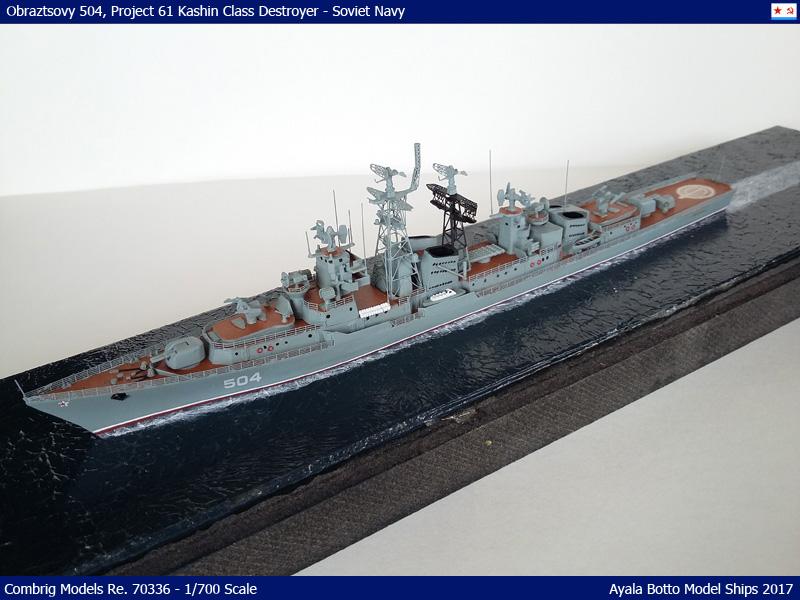 Destroyer Obraztsovy Projet 61 Classe Kashin Combrig 1/700 Marine Soviétique 37526042276_7966ec3c3e_o