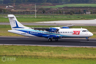 2-DCBT  TACV Cabo Verde Airlines ATR 72, Maastricht Aachen Airport - EHBK/MST | by neplev1