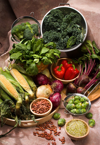 A mix of vegetables