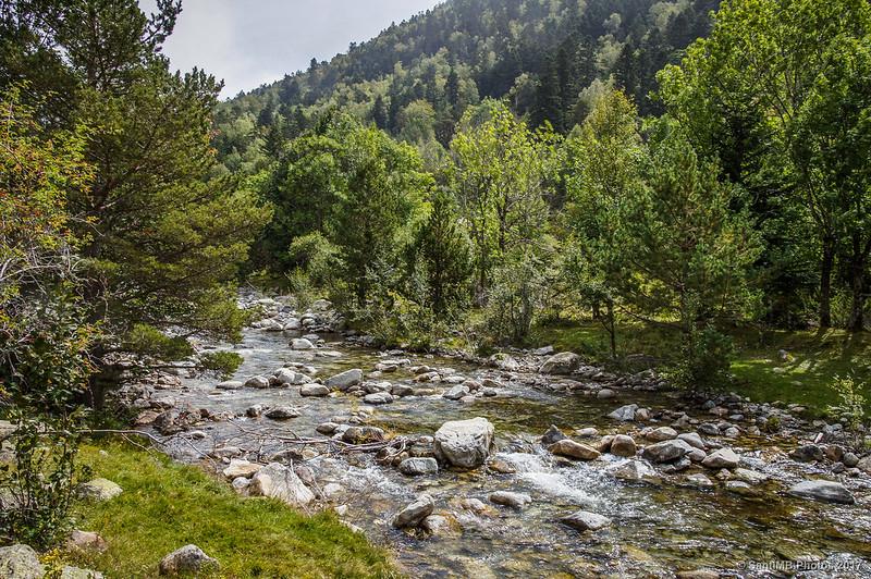 El río Sant Nicolau poco antes de verter sus aguas en el Estany de Llebreta