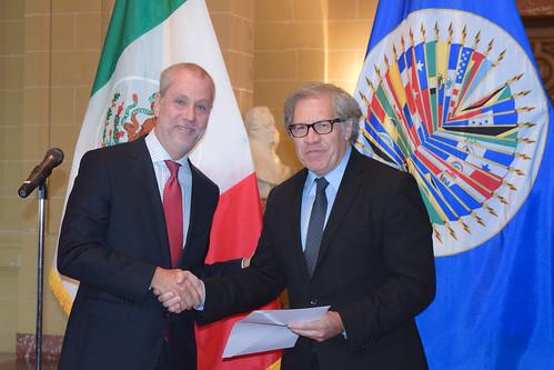 Nuevo embajador de México ante la OEA presenta cartas credenciales