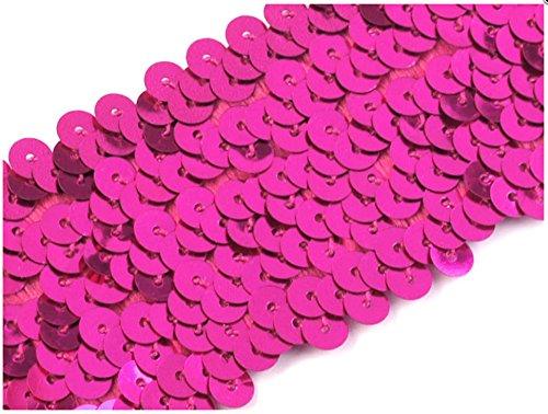 Paillettenborte elastisch 45mm, pink