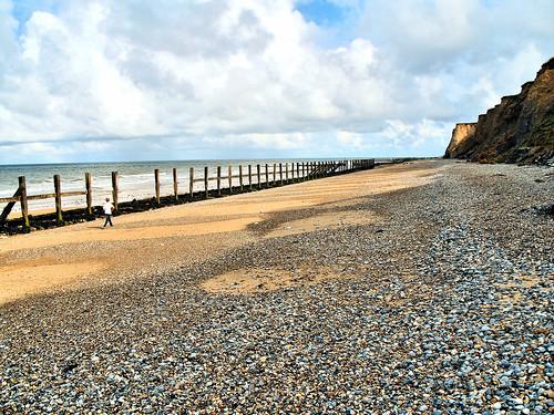 Strolling along West Runton beach