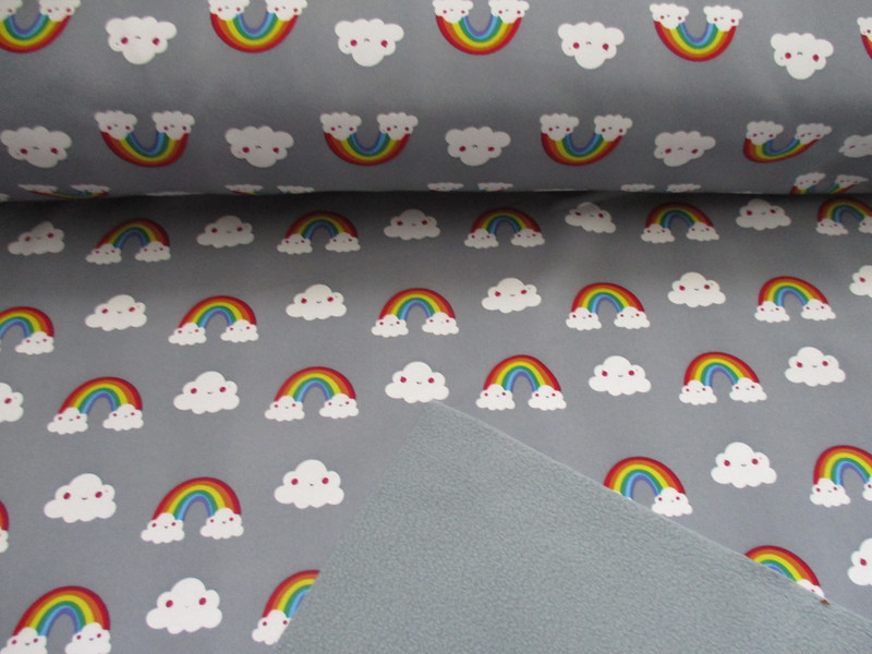 Softshell Regenbogen-Wölkchen, grau