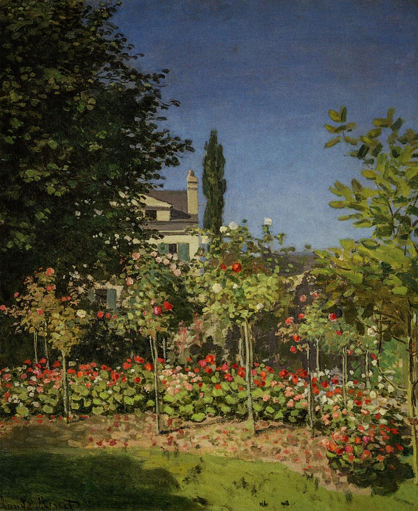 Claude Monet Garden In Flowers At Saint Adresse 1866 M Flickr