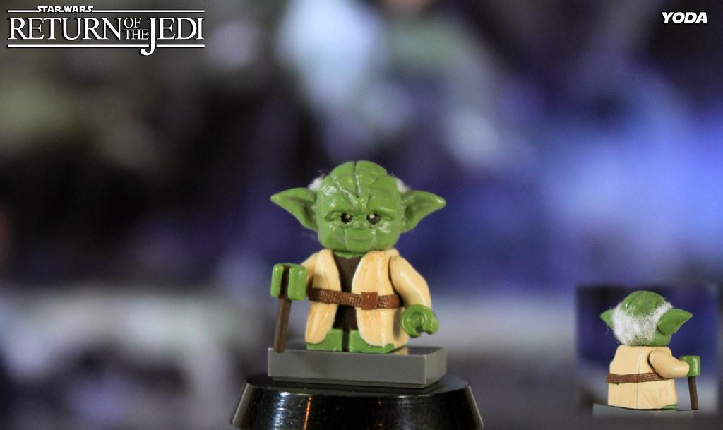 custom lego star wars return of the jedi yoda by legomatic9 - Lego Yoda