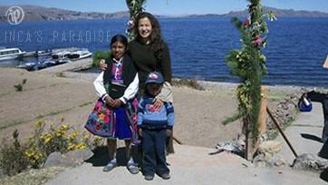 Niños en la Isla de Taquile
