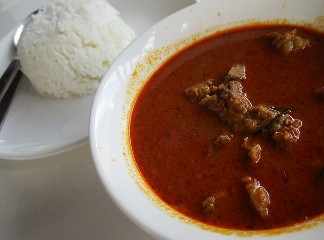 Warung BM mutton curry with rice