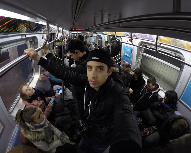 En el metro siguiendo uno de los itinerarios más espectaculares por Nueva York