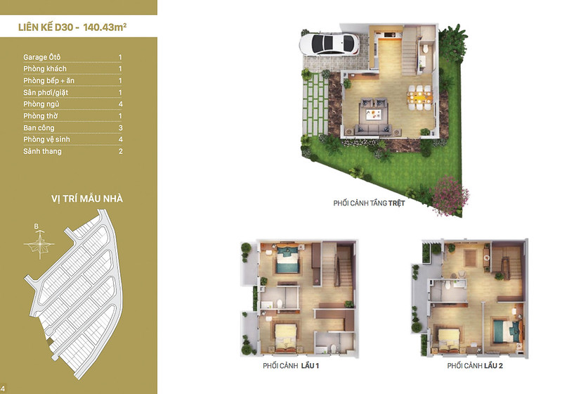 12 thiết kế mẫu nhà liên kế tại RioVista quận 9 12