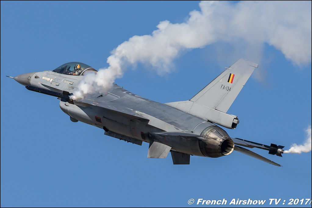 Belgian Air Force F-16 Solo Display , Avignon Airshow 2017