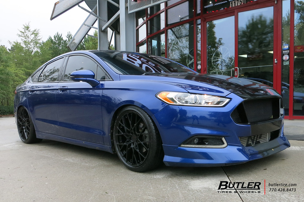 Lowered Ford Fusion With 19in Tsw Sebring Wheels View