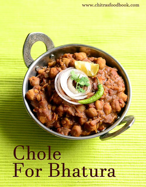 How to make chole for bhatura