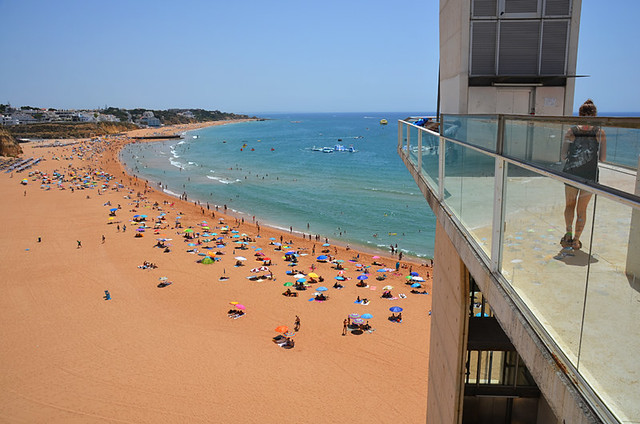 Lift to Beach at Albufeira Old Town, Algarve