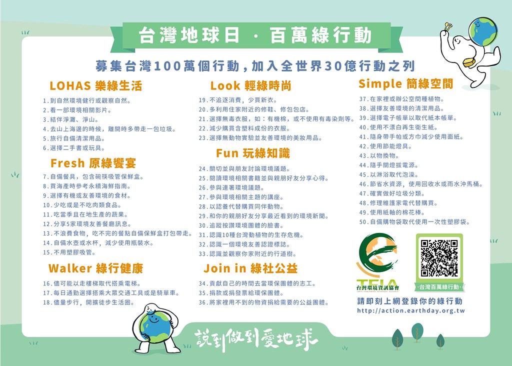 2018綠行動年曆