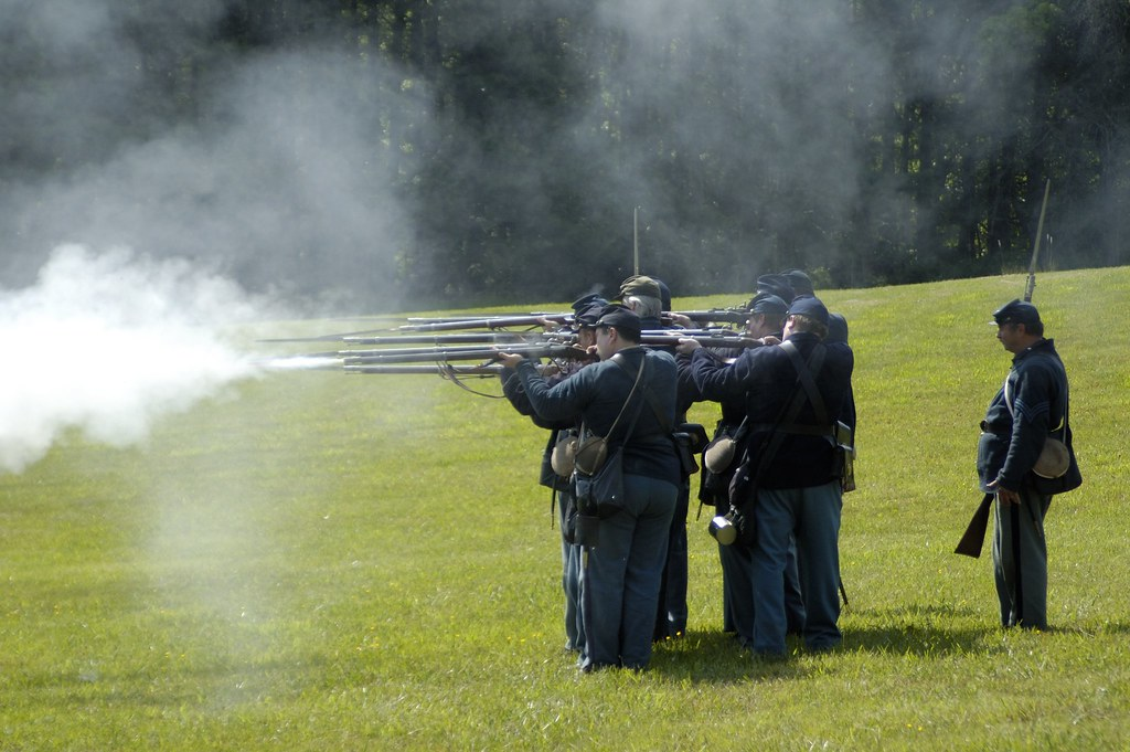 Photo of Civil War reenactors